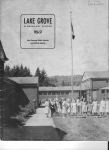 cover page  Lake Grove   1956 -57  Lake Grove Oregon